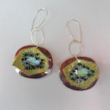 Kiwi fruit earrings price guide £56