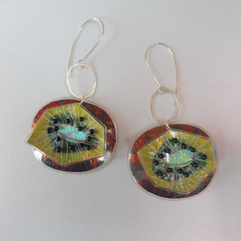 kiwi earrings. Price guide £56.