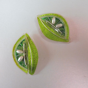 Lime stud earrings. Price guide £42.e