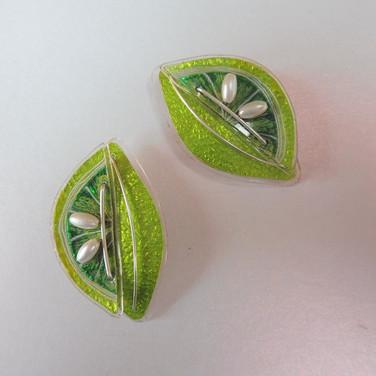 Lime stud earrings price guide £42