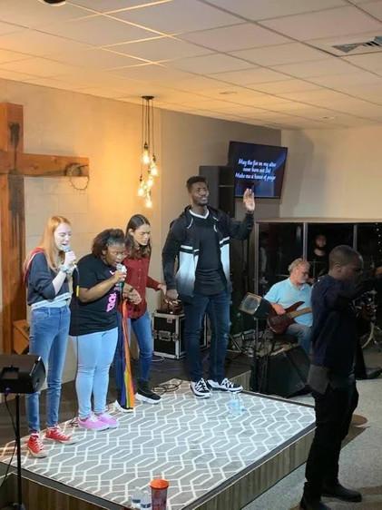 Young Adults Praying