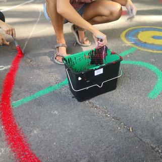 Sadrie Alves - Street Painting Parcours