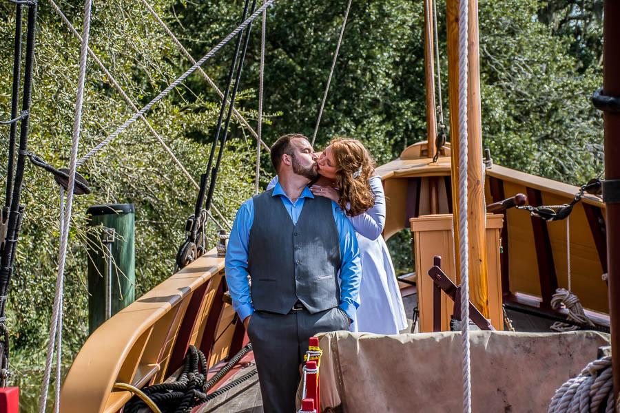 pirate ship elopement charleston sc