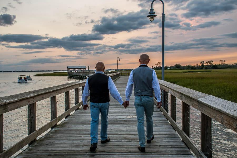 gay elopement at shem creek