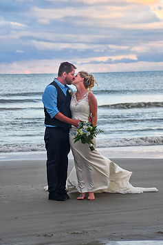 romantic sunset beach elopement charleston sc