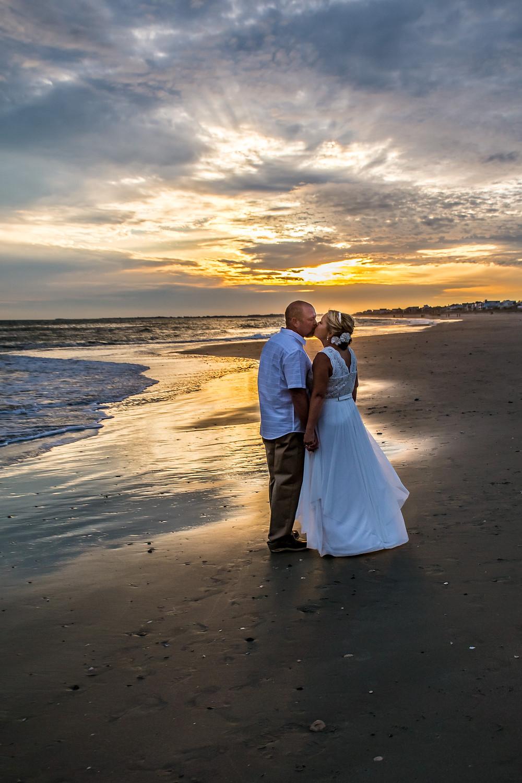 amazing sunset beach elopement sc