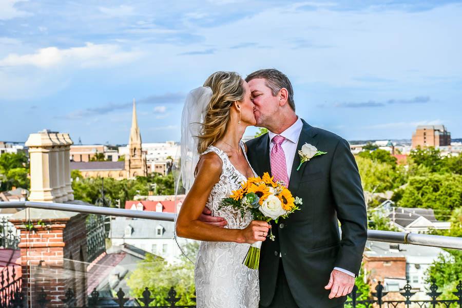 rooftop elopement wentworth mansion charleston sc
