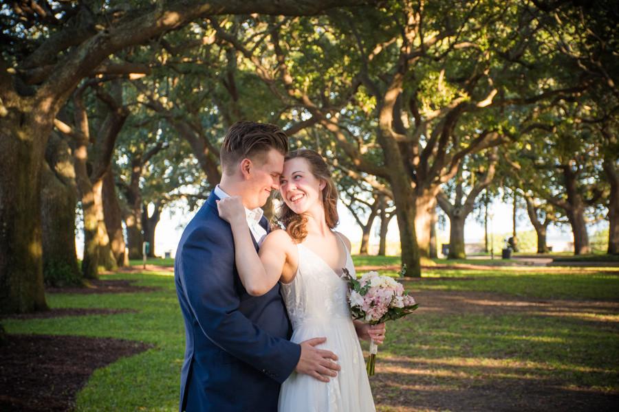wedding at avenue of oaks