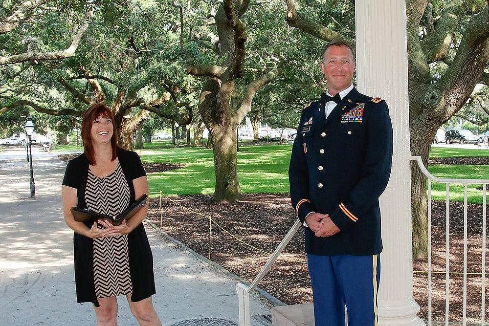 military elopement charleston sc