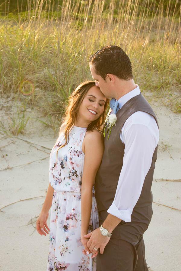 golden hour beach elopement photo