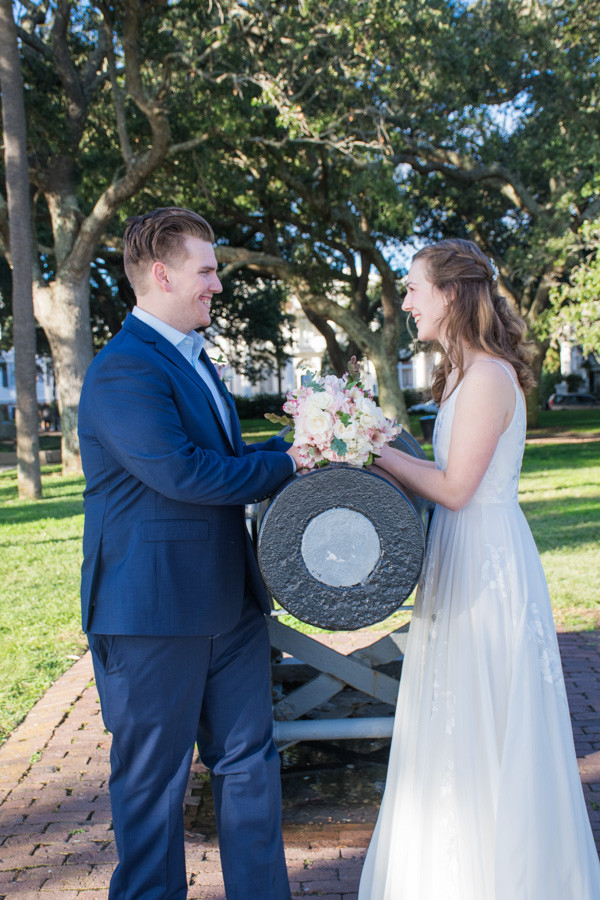 elopement at Charleston Battery park