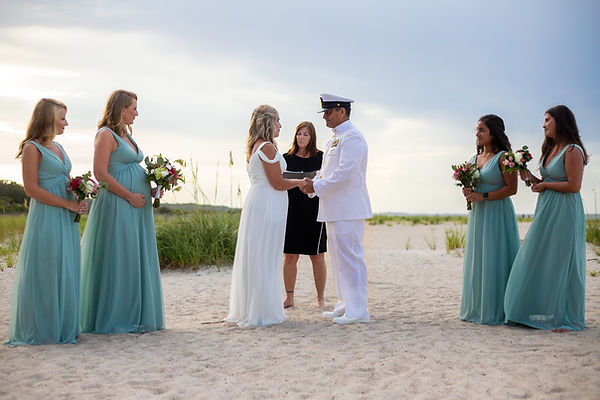 military beach elopement isle of palms sc