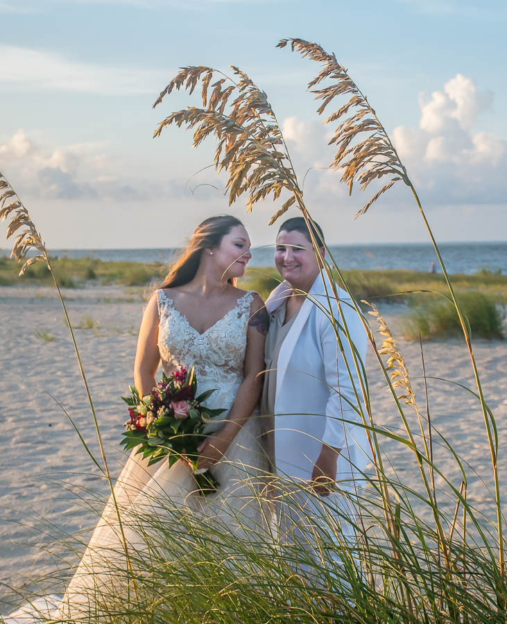 same sex beach elopement sc