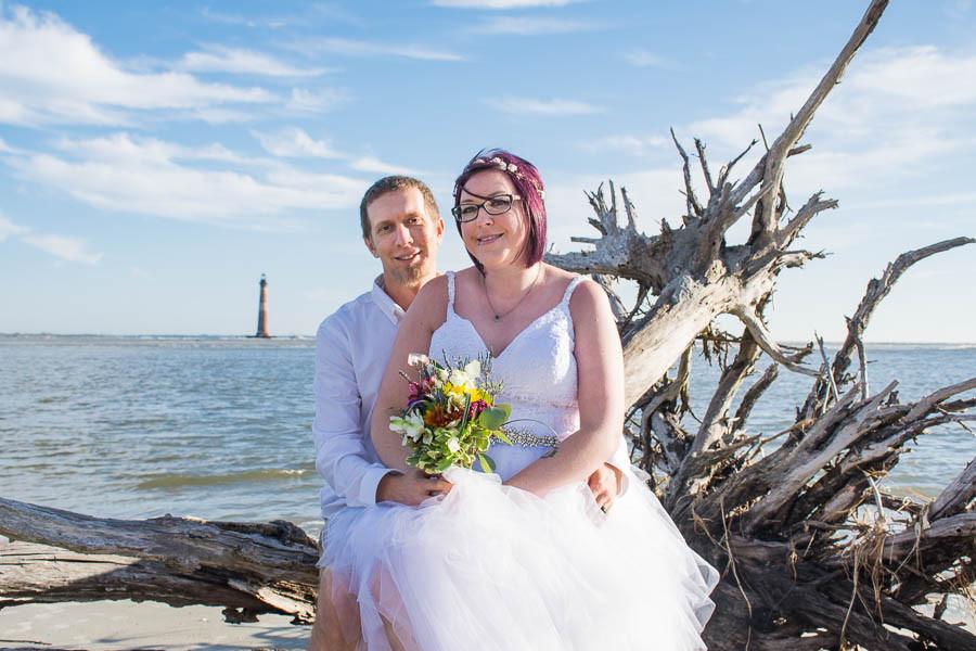 beach elopement folly beach sc