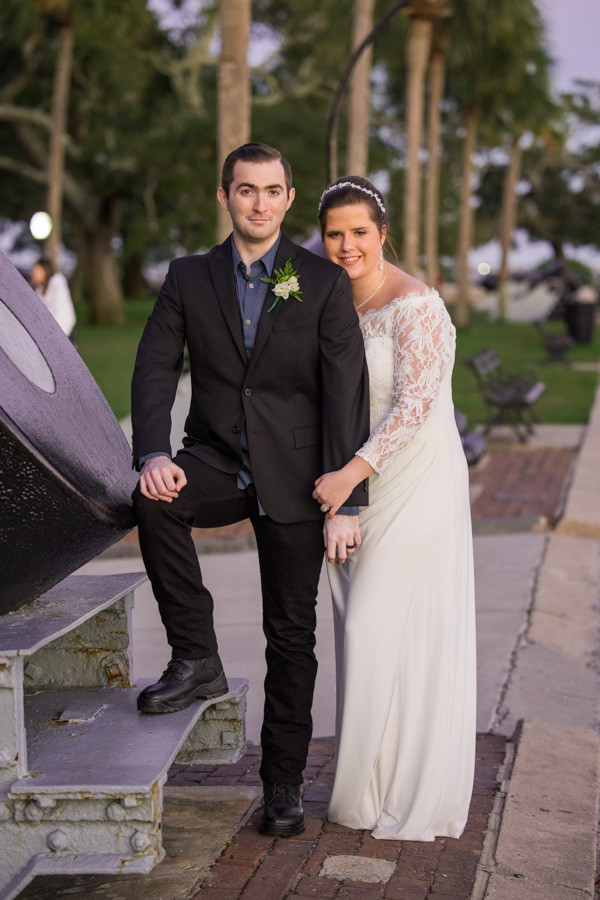 wedding photo with cannon charleston