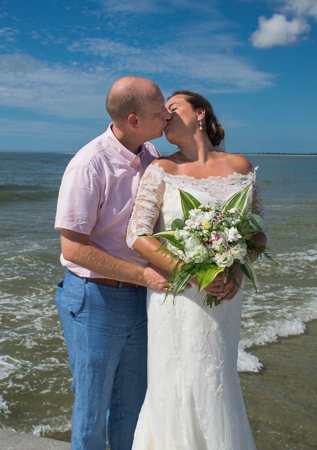 summer beach elopement folly beach sc