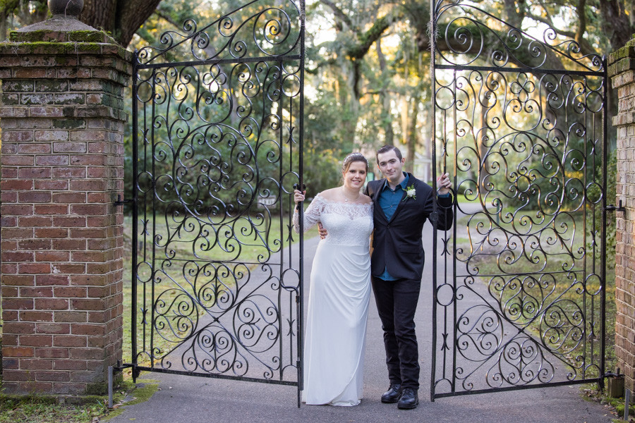 elopement photo at the iron gates