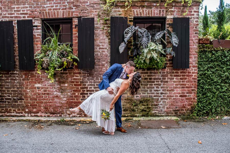 Charleston alley elopement window boxes historic