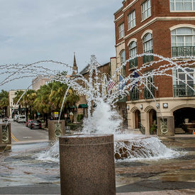 Waterfront Fountain at Vendue