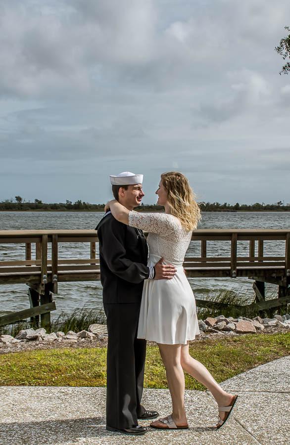 military elopement riverfront park charleston navy elopement