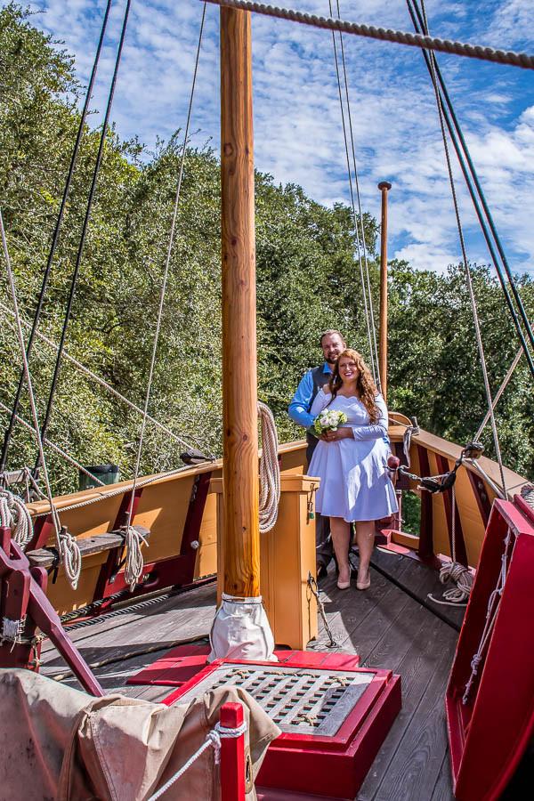 elopement on a pirate ship charleston sc