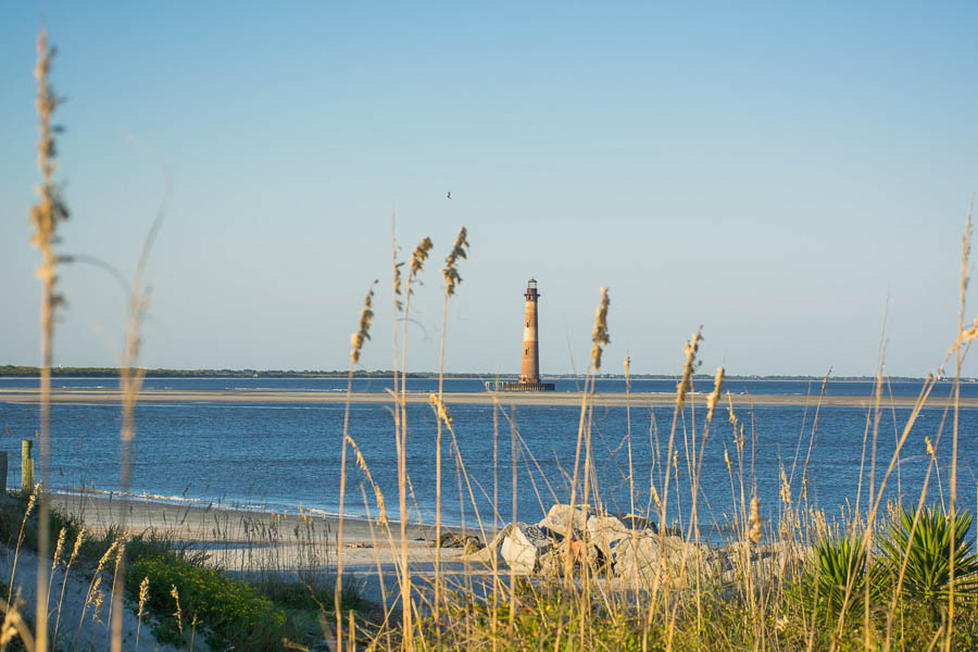 Folly Beach lighthouse aka Morris Island lighthouse sc