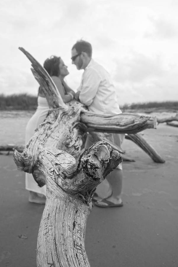 boneyard photo on the beach in sc elopement folly