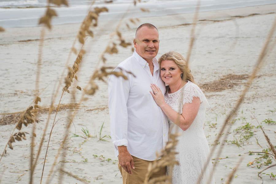 beach elopement at the sand dunes