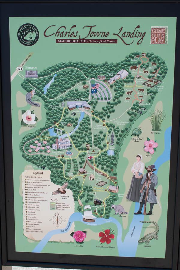 Charles Towne Landing Map