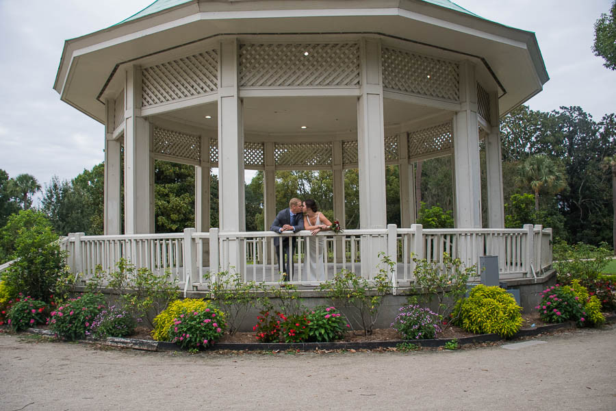 hampton park gazebo with flowers