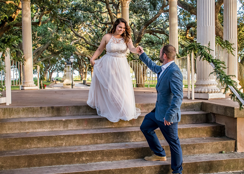 romantic elopement charleston sc