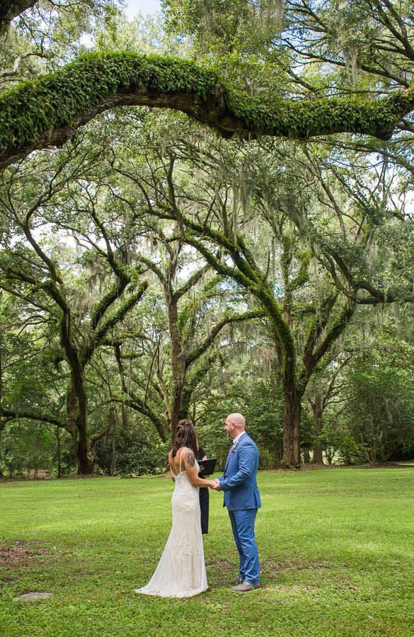 elopement ceremony charles towne landing sc