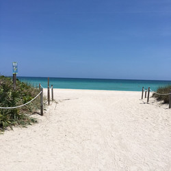 Crystal Beach Fitness access to private beach area