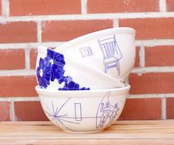 Customized Medalta Mixing Bowls