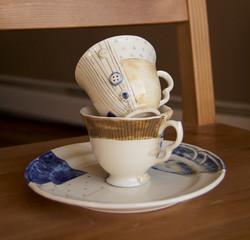 Patch Work Teacups