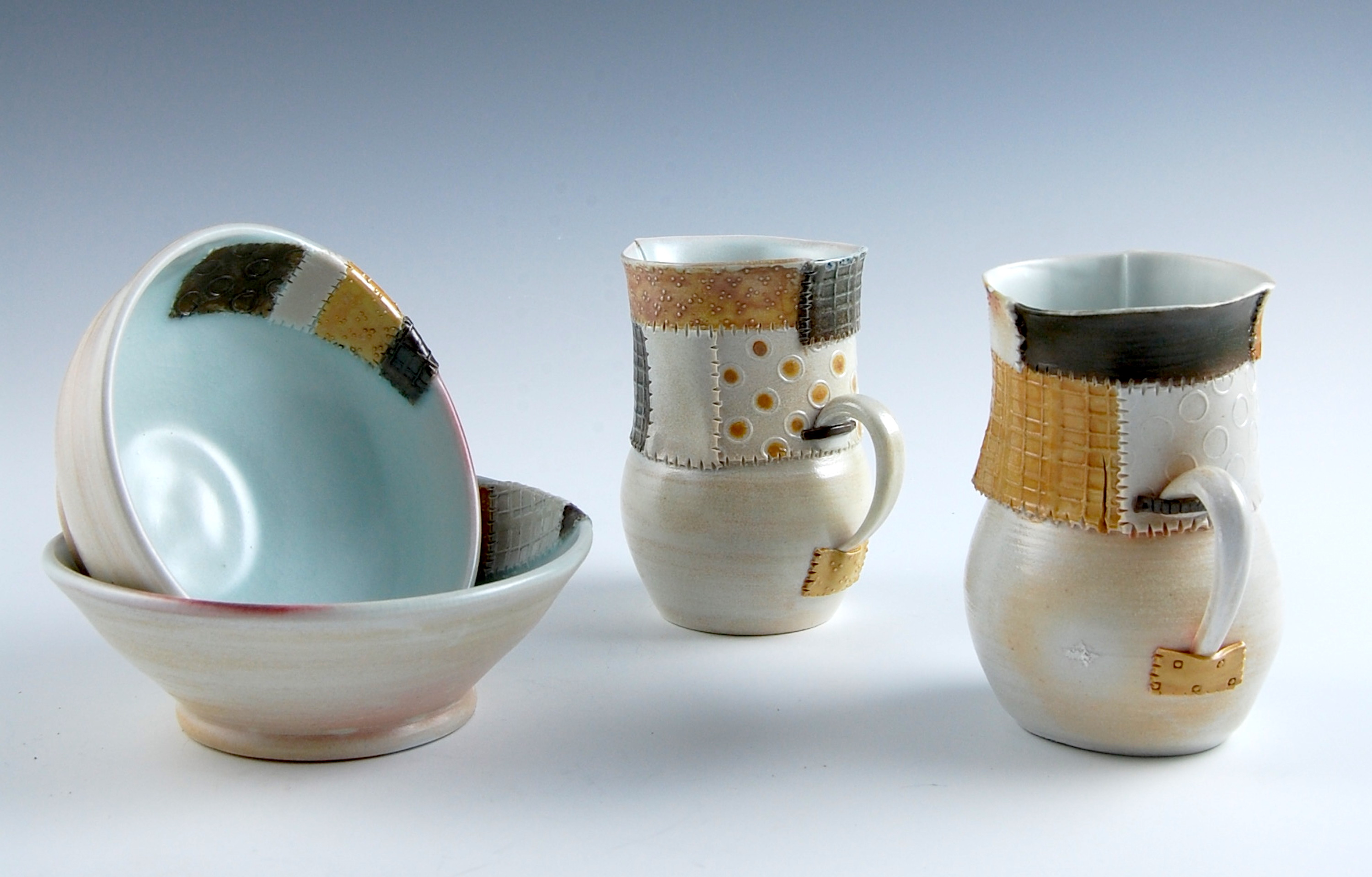 Patchwork Cups and Bowls