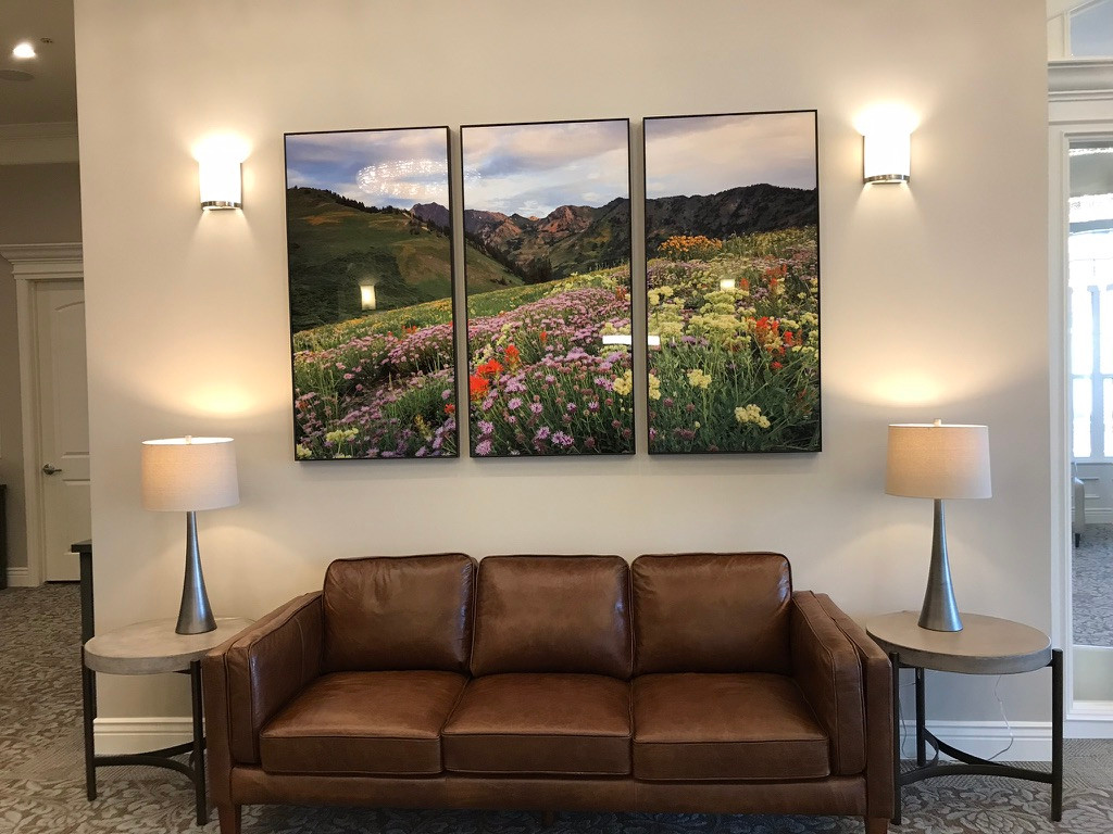 Glossy Metal Landscape Triptych