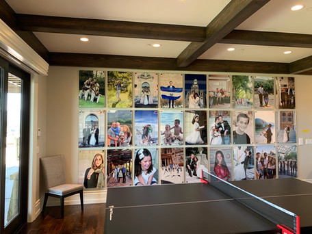 Metal Print Gallery with Acryllic Overlay and Metal Posts