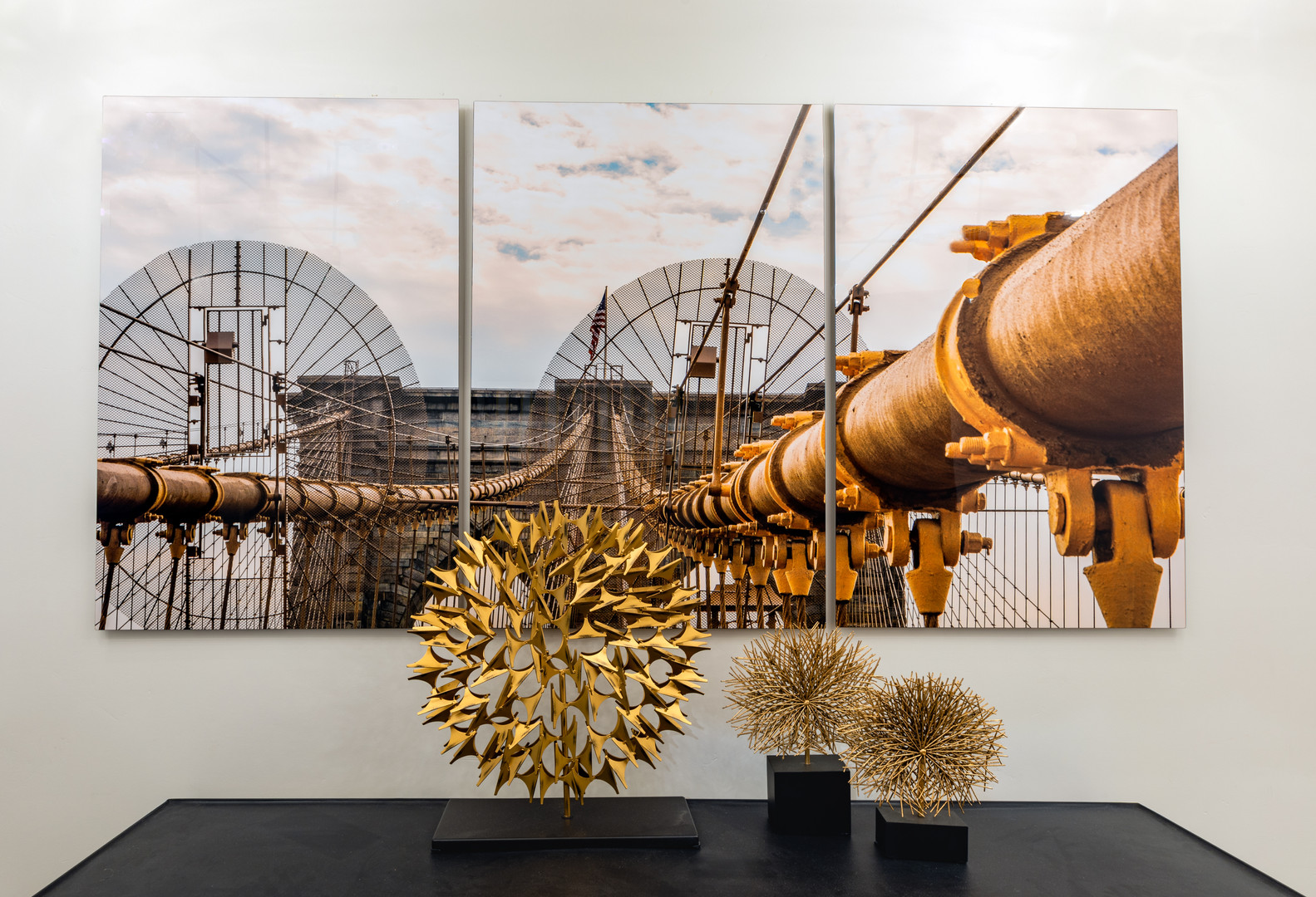 Metal Print Triptych Industrial Photography