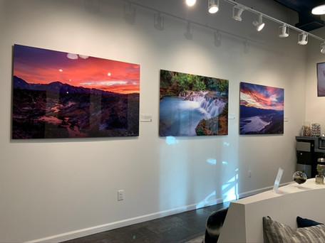 Glossy Metal Print Gallery in Dental Office