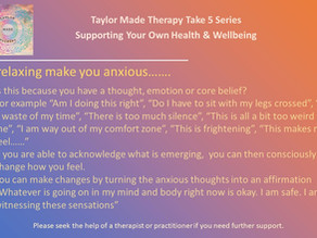 Take 5 Minutes To Support Your Own Health and Wellbeing