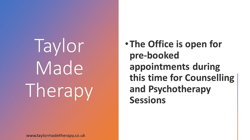 Taylor Made Therapy Jane Taylor Counsellor Pschotherapist Dowser EDT Reki
