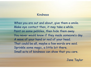 Mental Health Awareness Week ~ Kindness Poem