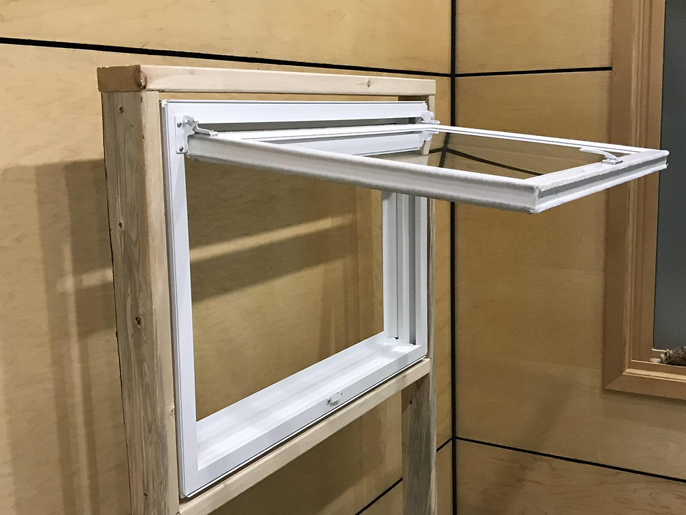 Awning windows used for egress in Canada