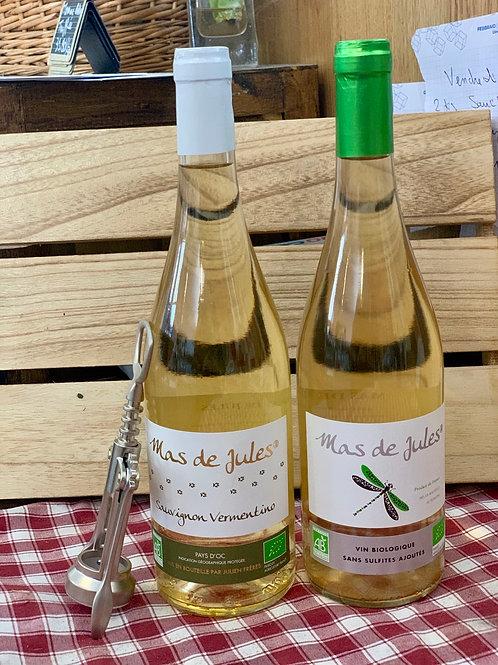 Vin blanc Mas de Jules Bio