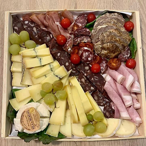Plateau mix charcuterie/fromage personnalisable