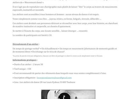 | Atelier de danse intuitive | Toulouse