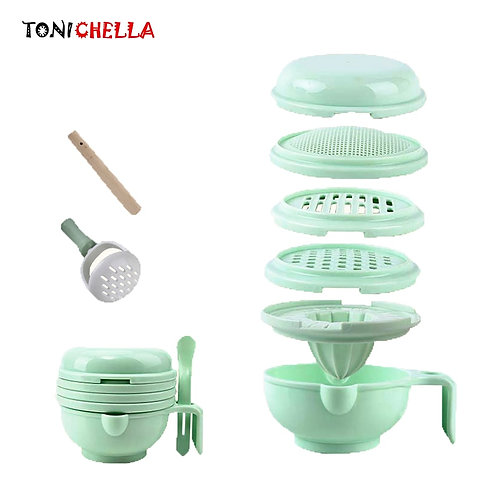 Baby/Infant Manual Grinding/Mashing Food/Cooking 9 Piece Set  T0372