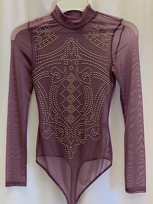 Purple See-through Bodysuit