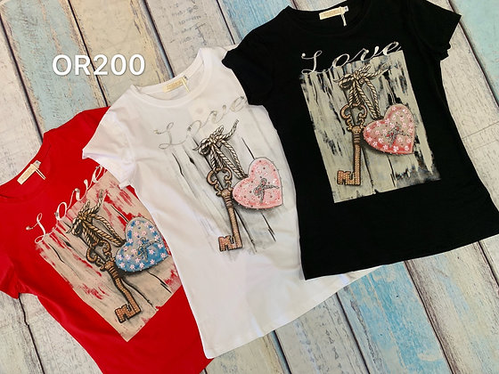 Heart & Lock T-shirt #OR200